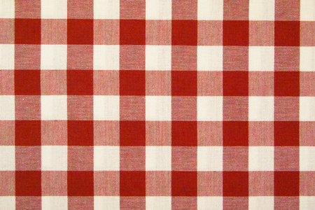 Tablecloth red and white background