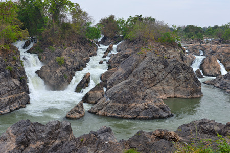 khon: Waterfall in Don Khon, Si Phan Don, Laos