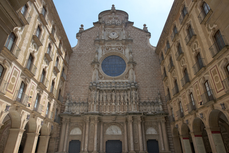 gothica: Montserrat Monastery is a Benedictine Abbey high up in the mountains Barcelona Catalonia Spain.