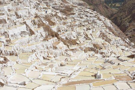 salina: Salina Maras, the Inca traditional salt field in Maras in Sacred Valley near Cuzco, Peru