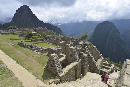 unesco: Machu Picchu, Peru, UNESCO World Heritage Site in 1983. One of the New Seven Wonders of the World. Stock Photo