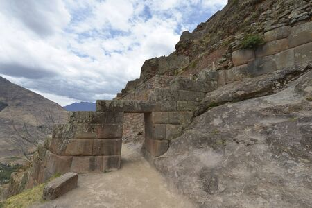 pisac: Inca villages ruins in Pisac, Sacred Valley of Incas, Peru