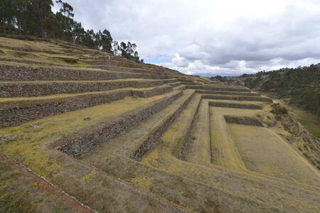 inca architecture: Inca ruins in Chinchero, Cuzco, Peru.