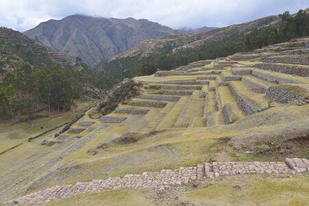 inca ruins: Inca ruins in Chinchero, Cuzco, Peru.