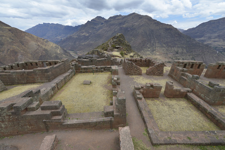 sacred valley: Inca villages ruins in Pisac, Sacred Valley of Incas, Peru