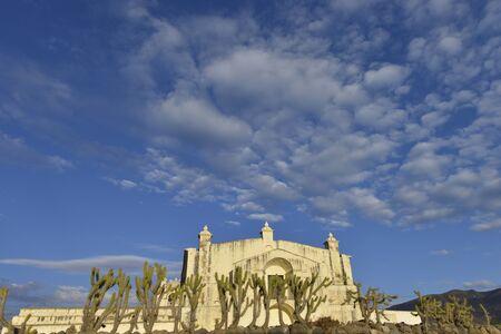 immaculate conception: Immaculate Conception Church in Yanque, Peru. Stock Photo