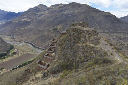 sacred valley of the incas: Inca villages ruins in Pisac, Sacred Valley of Incas, Peru