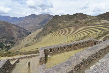 sacred valley of the incas: Inca villages ruins in Pisac, Sacred Valley of Incas, Peru