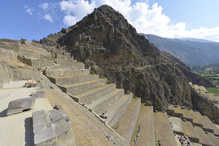 quenching: Peru, Ollantaytambo, Inca ruins in the sacred valley in the Peru
