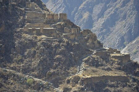 inca ruins: Peru, Ollantaytambo, Pinkulluna Inca ruins in the sacred valley in the Peru.