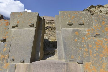 inca ruins: Peru, Ollantaytambo, Inca ruins in the sacred valley in the Peru. Stock Photo