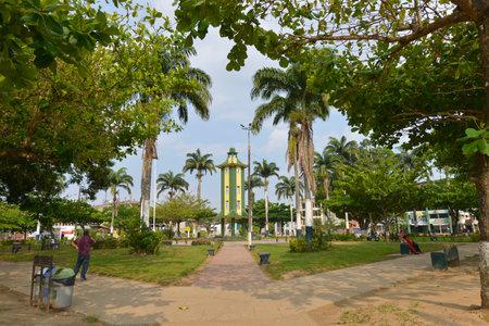 oxbow: PUERTO MALDONADO, PERU - SEPTEMBER 18: Puerto Maldonado is a city in Southeastern Peru in the Amazon forest. It is the capital city of the Madre de Dios Region on September 18, 2015 in Peru.
