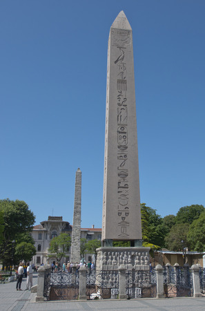 pillage: Istanbul, Turkey - May 14, 2016: Ancient Egyptian Obelisk of Theodosius on May 14, 2016 in Istanbul, Turkey.