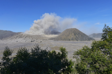 Gunung Bromo, Tengger volcano in Java, Indonesia Stock Photo
