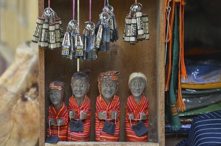 Dolls at a souvenir shop in Kete Kesu, Tana Toraja, Sulawesi, Indonesia