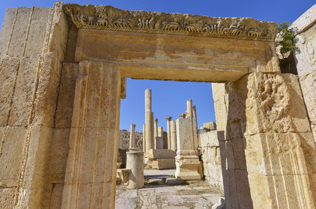 Jerash is the site of the ruins of the Greco-Roman city of Jerash, Jordan