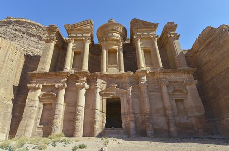 Ad Deir, The Monastery Temple of Petra, Jordan. Petra has led to ITS designation as a UNESCO World Heritage Site