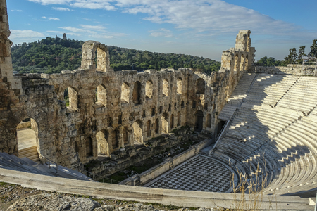 Amphitheater of Acropolis in Athens, Greece.