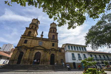 San Gil, Colombia - August 10: Cathedral of San Gil on August 10, 2017 in San Gil, Colombia. Editorial