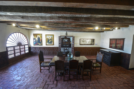 Cartagena, Colombia - August 3: San Pedro Claver Convent, Founded by Jesuits in the first half of the 17th century as Convent San Ignacio de Loyola on August 3, 2017 in Cartagena, Colombia.