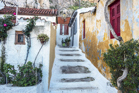 Plaka area in Athens, Greece.