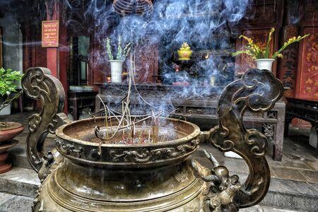Quan Thanh Temple in Hanoi, Vietnam.