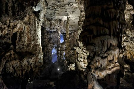 Thien Cung Cave in Halong Bay, Vietnam