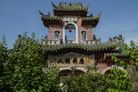 Gate of Phuc Kien Assembly Hall in Hoi An, Vietnam.