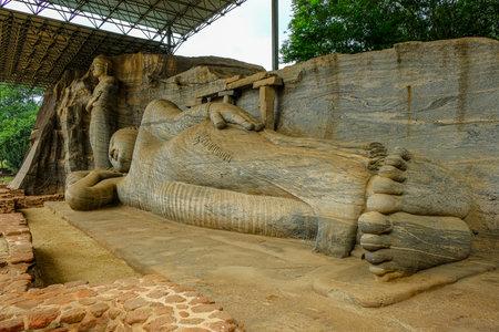 Buddha statues in Gal Vihara in Polonnaruwa, Sri Lanka.