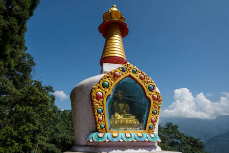 Stupa in Gangtok in the state of Sikkim, India. Stock Photo - 158183020