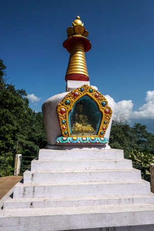 Stupa in Gangtok in the state of Sikkim, India. Stock Photo