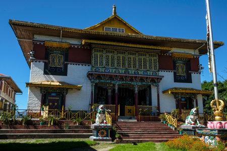 Pelling, India - October 2020: Pemayangtse Monastery is a Buddhist monastery in Pelling on October 30, 2020 in Sikkim, India. Editorial