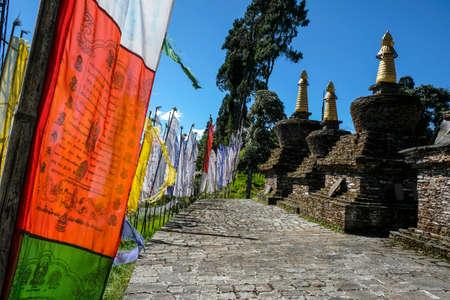 Stupas at the Buddhist Sanghak Choeling Monastery