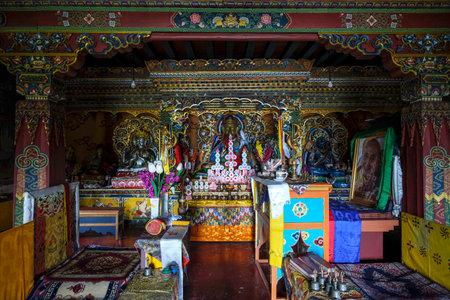 Yuksom, India - November 2020: Dubdi Monastery in Yuksom on November 2, 2020 in Sikkim, India.