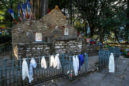 Yuksom, India - November 2020: Coronation throne of Norbugang in Yuksom on November 1, 2020 in Sikkim, India. Stock Photo - 158643599