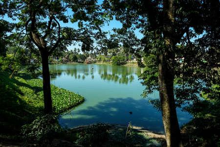 Pond in the Hayagriva Madhava Temple in Hajo, Assam, India.