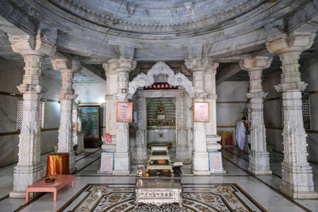 Tezpur, India - November 2020: The Shree Jain Swetamber Gauri Parswanath Temple in Tezpur on November 14, 2020 in Assam, India.