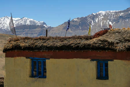 Views of the Tangyud Monastery in Komic   in Spiti valley, Himachal Pradesh, India. Banque d'images