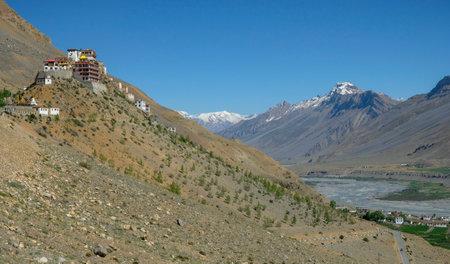 Views of the Key Monastery in Kee   in Spiti valley, Himachal Pradesh, India.