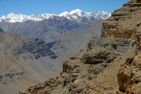 Views of the Spiti Valley in Himachal Pradesh, India.