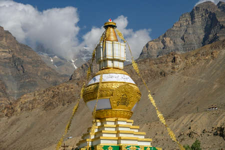 Great stupa of the Tabo Monastery in Tabo village Spiti valley, Himachal Pradesh, India. Banque d'images