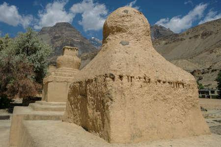 Views of the Tabo Monastery in Tabo village   in Spiti valley, Himachal Pradesh, India.