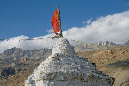 Stupa in the village of Nako in Himachal Pradesh, India. Banque d'images