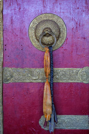 Komic, India - June 2021: Views of the Tangyud Monastery in Komic on June 29, 2021 in Spiti valley, Himachal Pradesh, India. Banque d'images