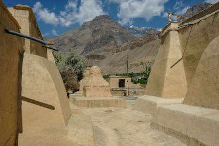 Views of the Tabo Monastery in Tabo village  in Spiti valley, Himachal Pradesh, India. Banque d'images
