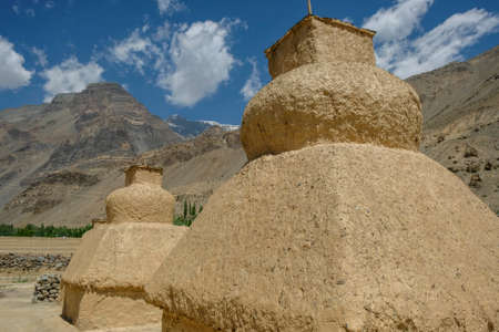 Views of the Tabo Monastery in Tabo village Spiti valley, Himachal Pradesh, India. Banque d'images
