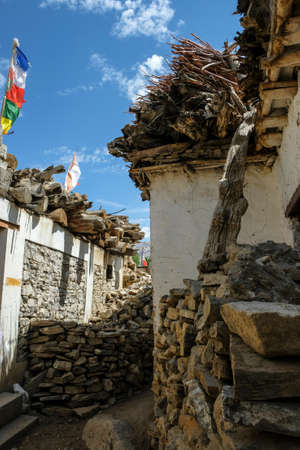 Views of the village of Nako in Himachal Pradesh, India. Banque d'images