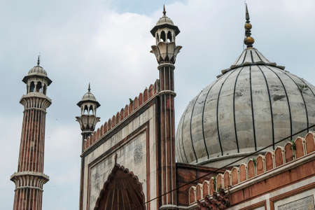 The Jama Masjid Mosque in Delhi is the largest in India on August 3, 2021 in Delhi, India.