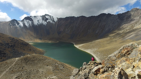 Photograph of the Nevado de Toluca captured in the month of October 2016