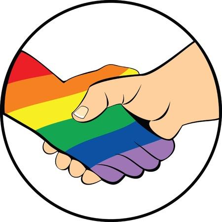 homosexual: apretón de manos como símbolo de tolerancia